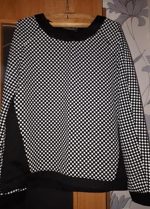 Брючный костюм чёрно/белый в клетку