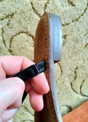 Кожаные шлепанцы / вьетнамки tamaris (100% кожа)5 фото