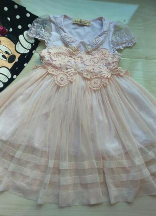Красивое платье вышивка 3 4 5 л.