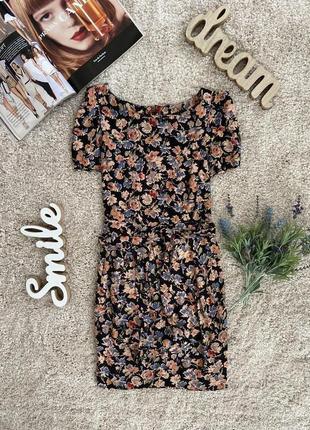 Распродажа!!! оригинальное летнее вискозное платье в цветочный принт №567