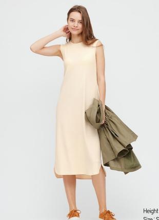 Длинное платье без рукавов с бюстгальтером uniqlo