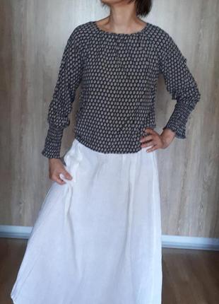 Топ блузка  укороченная с широким длинным  рукавом р
