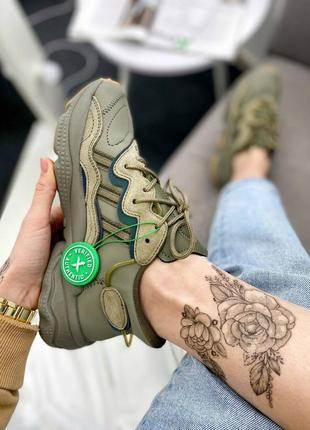Женские, мужские кроссовки adidas ozweego khaki