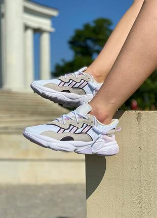 Женские кроссовки adidas ozweego pink жіночі кросівки