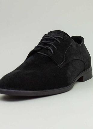 Туфли замшевые vankristi, черные, 580026
