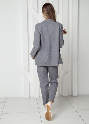 Женский классический костюм с брюками двойка3 фото