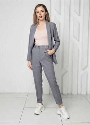 Женский классический костюм с брюками двойка4 фото