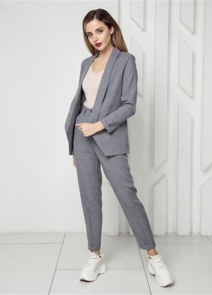 Женский классический костюм с брюками двойка2 фото