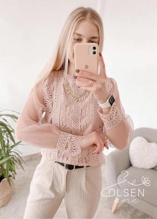 Блуза ажурная