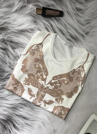 Футболка-блуза с принтом от zara