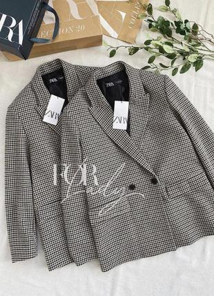 Двубортный пиджак блейзер от zara