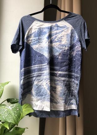 Блуза врезной рукав пейзаж реглан