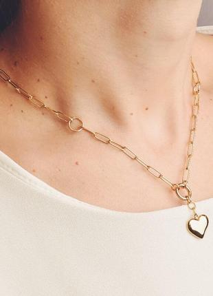 Красивая ювелирная подвеска цепочка с сердечком