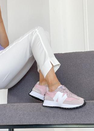 Женские кроссовки new balance 327 pink