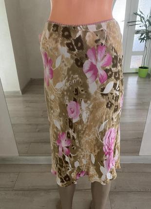 Moda zakrecoba 💐юбка міді//юбка в бельевом стиле в цветочный принт