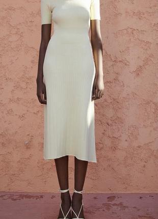 Женственное красивое платье миди макси zara