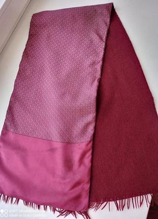 Hermes, винтажный мужской шарф шелк и кашемир