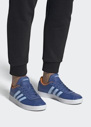 Оригинальные кожаные кроссовки adidas vl court
