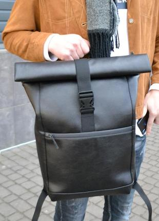 Рюкзак із еко-шкіри рол топ