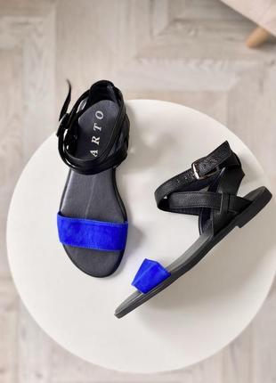 Рр 36-41. чёрные синие кожаные замшевые босоножки сандалии из натуральной кожи замши