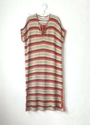 Вязаное оверсайз платье