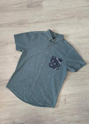 Летняя рубашка с кармашком лёгкая cedarwood state размер m/s