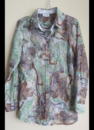 Брендовая женская блузка-рубашка немецкой фирмы alba moda,оригинал, новая,сток