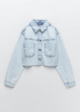 Короткая джинсовая куртка zara