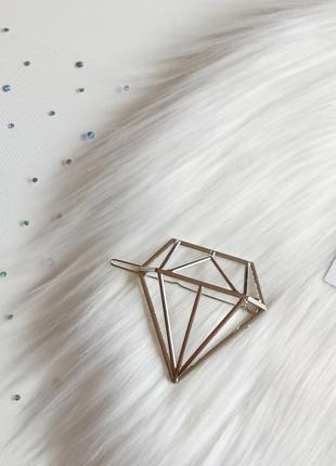 Стильна заколка для волосся у вигляді діаманта