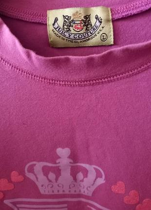 Juicy couture брендовая футболка джуси кутюр4 фото