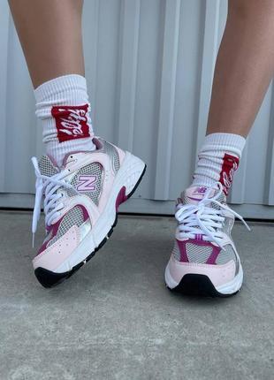New balance 530 pink/purple женские розовые фиолетовые кроссовки беланс жіночі рожеві фіолетові кросівки