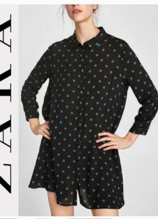 Платье в горошек zara