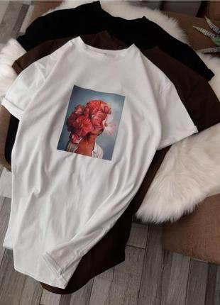 Платье-футболка с нашивкой