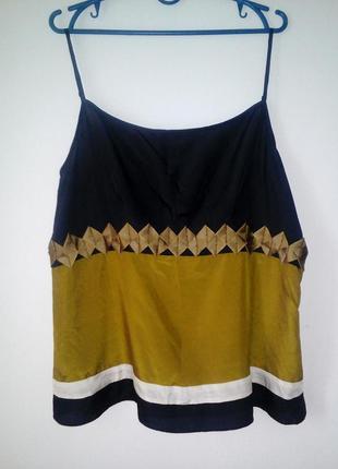 Новая шелковая блуза-майка, размер: 46 / 3xl / 54