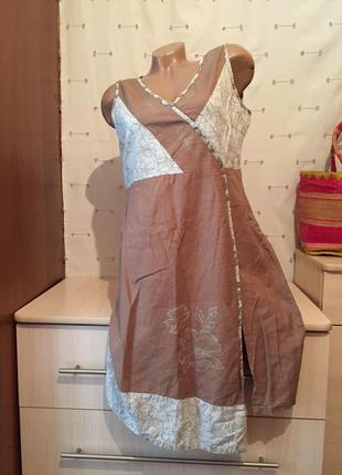 Льняной сарафан миди/ льняное платье