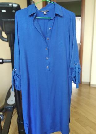 Сукня-сорочка колір електрик