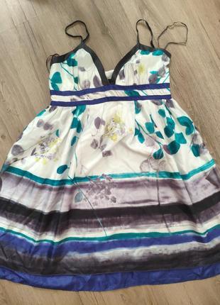 Шёлковое шелковое платье сарафан mango шелк шёлк шовк silk 100%
