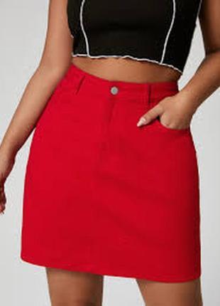 Яркая джинсовая юбка m/l
