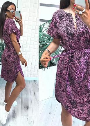 Штапльное платье