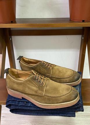 Облегчённые замшевые мужские туфли blauer usa live+each