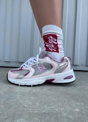 Женские стильные осенние кроссовки new balance 530 pink/purple