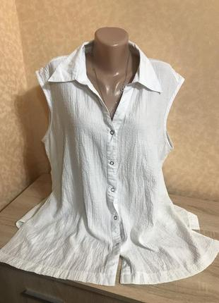 Блуза без рукавов большого размера
