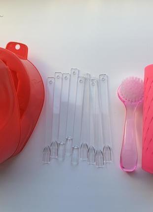 Набір, комплект, ваночки для манікюра, стаканчик, щітка.