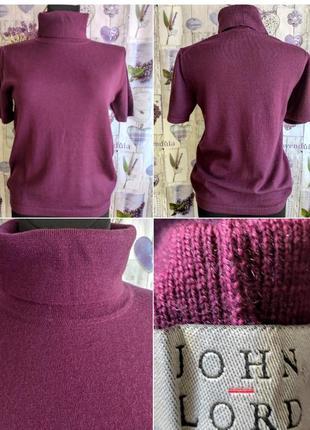 Сочный гольф свитер цвета марсала из 💯 шерсти меринос