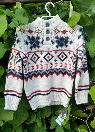 Rebel. белый свитер на мальчика. свитер для фотосессии. свитер новогрдний