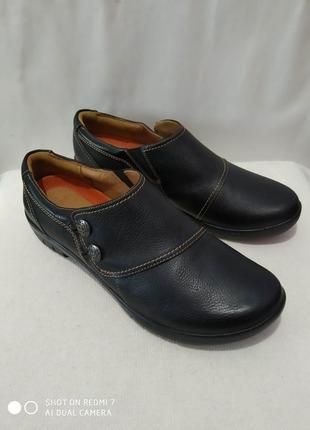 Кожаные туфли clarks unstructured