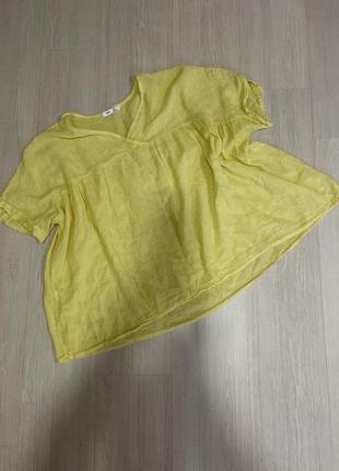 Блуза рубашка льняная хлопковая оверсайз свободного кроя