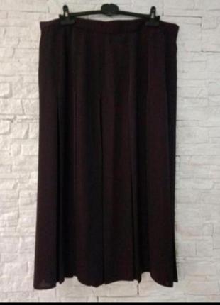Длинная винтажная юбка в складку