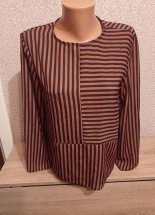 Блузка блуза в полоску 12р