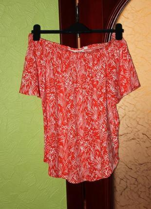 Трикотажная блузка на плечи разм. s от h&m